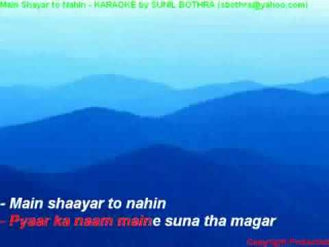 main shayar to nahin hindi karaoke
