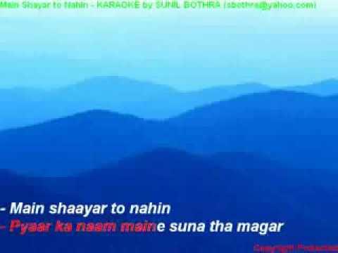 main shayar to nahin hindi karaoke