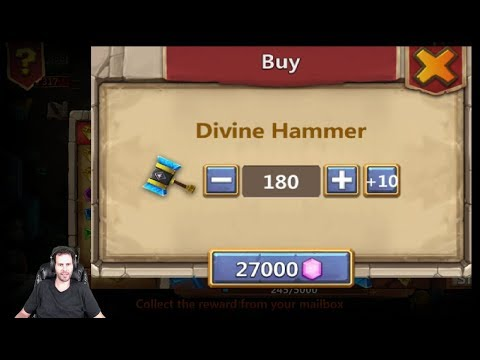 Slot Event Thunder Gods Hammer For Skeletica 180 Tries Castle Clash
