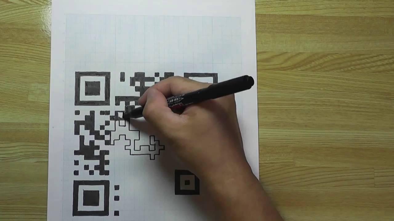 Hand Draw Qr Code Short Ver Youtube
