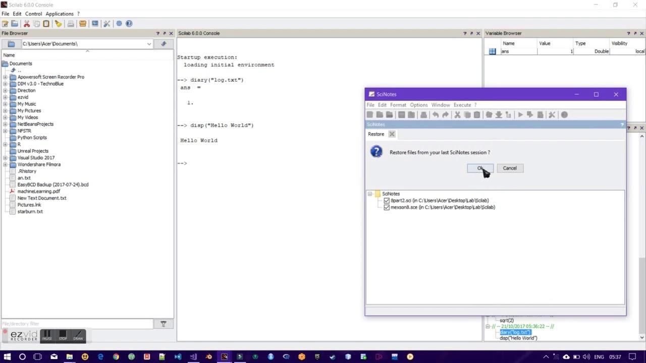 scilab 6.0.1