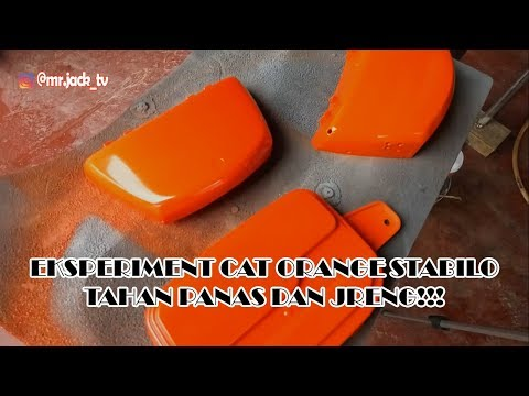 Cara Mudah Membuat Campuran Cat Orange Stabilo - Jrengg !!!