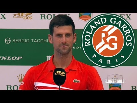 """Novak Djokovic """"French Open is the Ultimate Goal on Clay"""" - Monte Carlo 2019 (HD)"""
