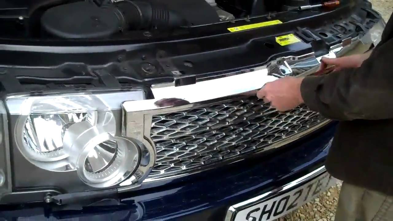 How To Fit The Face Lift Style Front Grill To Range Rover