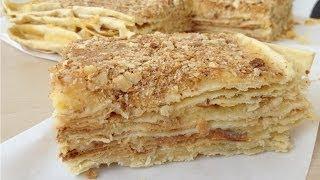 """Торт """"Наполеон"""" с Заварным Кремом (Вкусный, Домашний Рецепт) Napoleon Cake Recipe, English Subtitles"""