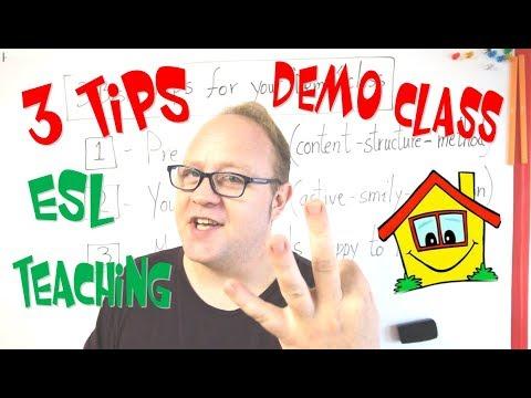 3 Basic Tips for your Demo class - ESL Teaching tips - Teaching English