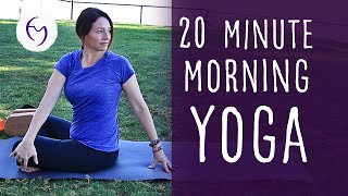 Video 20 Minute Morning Yoga With Fightmaster Yoga download MP3, 3GP, MP4, WEBM, AVI, FLV Maret 2018