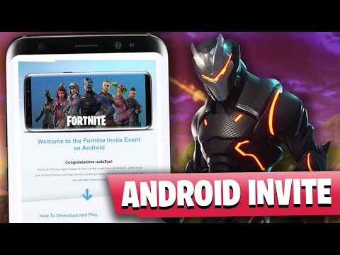 Official Fortnite Android Beta Invite SIGN UP EMAIL??