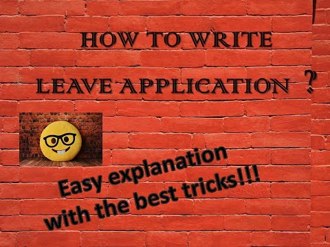 LEAVE APPLICATION - YouTube