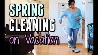 SPRING CLEANING (Even On Vacation) -  ItsJudysLife Vlogs