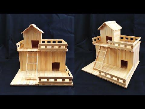 Ide Kreatif!! Membuat Rumah Dari Stik Es Krim.