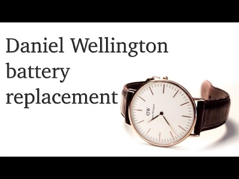 How to change the battery on Daniel Wellington watch?