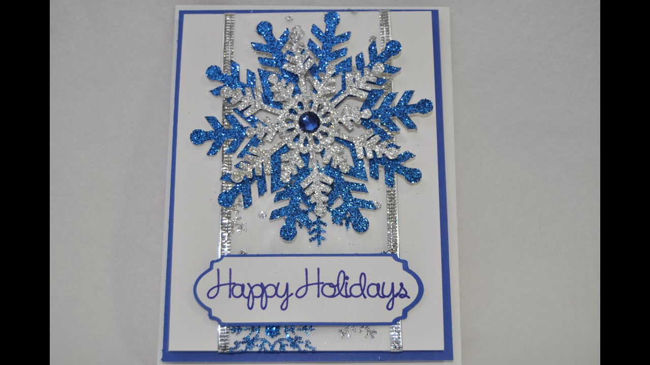 Glittery Snowflake Christmas Card Cricut Explore YouTube