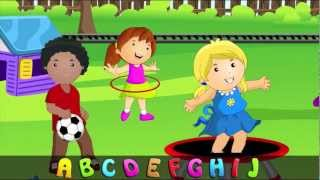 ABC Alphabet Song in HD with Lyrics - Children's Nursery Rhymes by eFlashApps