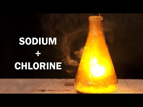 How to make Table Salt!  - Reaction of Sodium and Chlorine