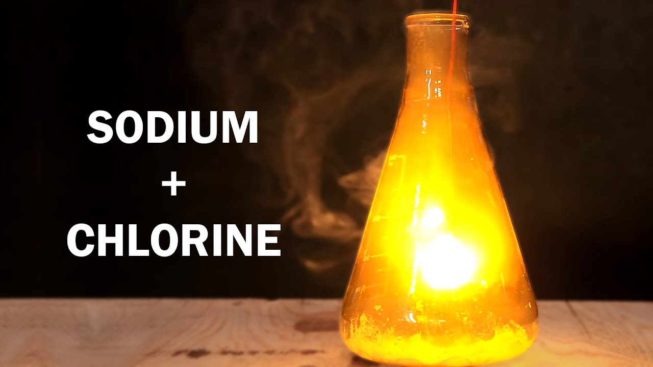 Making Table Salt Using Sodium Metal And Chlorine Gas