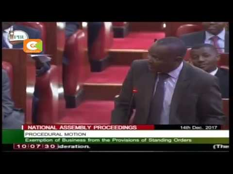 Minority Leader Mbadi kicked out of Parliament for saying Kenya has no president