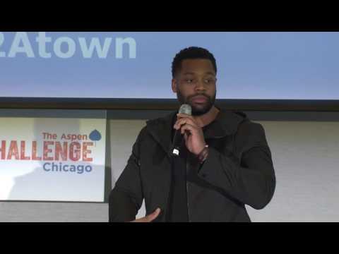 Laroyce Hawkins at the 2017 Aspen Challenge Opening Forum Chicago