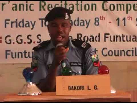 POLICE OFFICER PARTICIPATED IN QURANIC COMPETITION