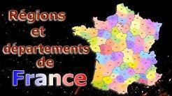 LES RÉGIONS ET DÉPARTEMENTS DE FRANCE MÉTROPOLITAINE