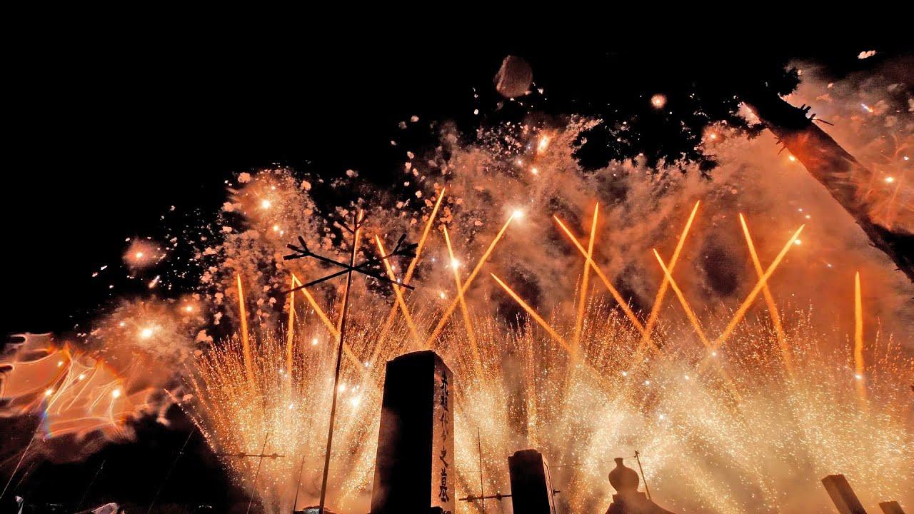 [3D VR180] 2021 お墓花火 超至近距離ミュージックスターマイン Grave fireworks