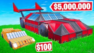 Fortnite BUILD The MOST EXPENSIVE SUPERCAR Challenge! (Fortnite Creative)
