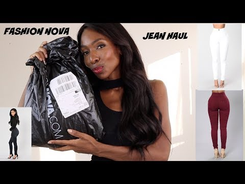 FASHION NOVA JEAN HAUL! WHAT FITS BETTER?  SIZE 3 OR 5? AND SOME TOPS....