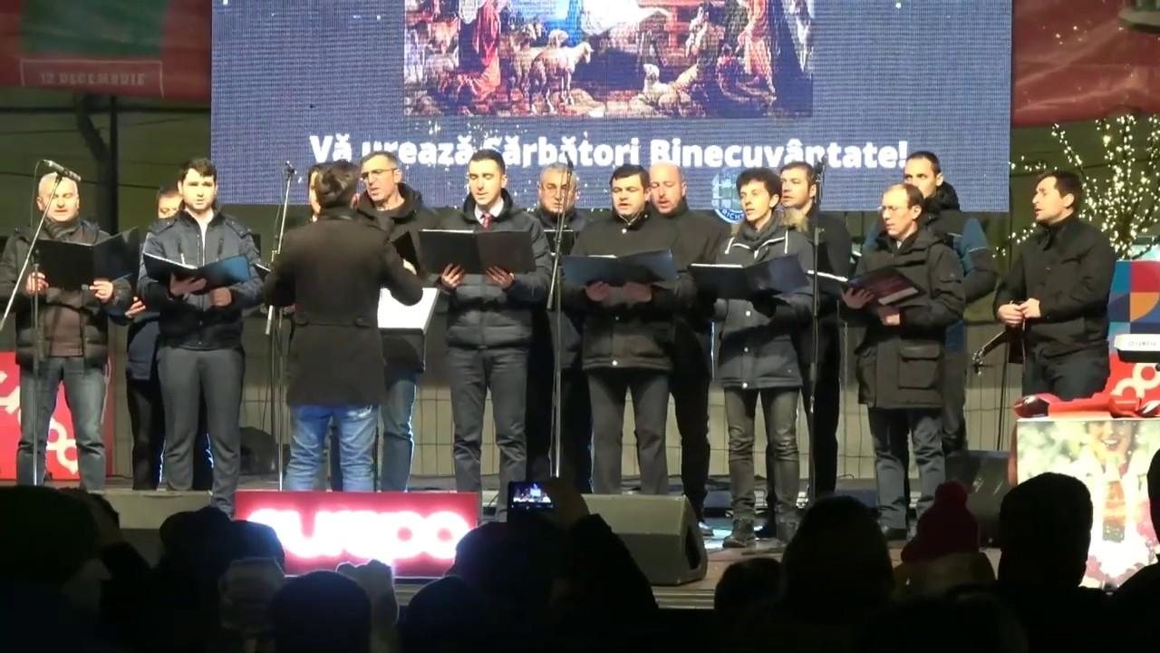 Corul de bărbați - Concert de colinde Piața Unirii Cluj-Napoca, 11 decembrie 2019