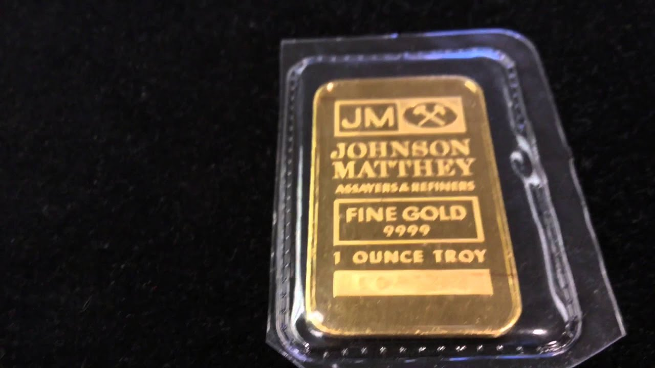 Johnson Matthey 1 Oz Gold Bar Youtube