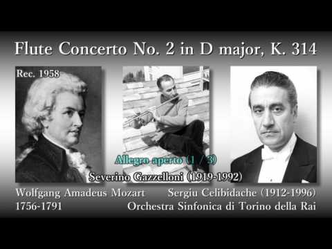 Mozart: Flute Concerto No. 2, Gazzelloni & Celibidache (1958) モーツァルト フルート協奏曲第2番 ガッゼローニ