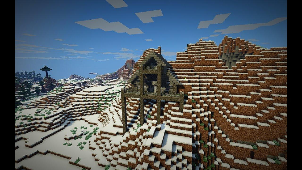 Minecraft Time Lapse: Snowy Mountain House
