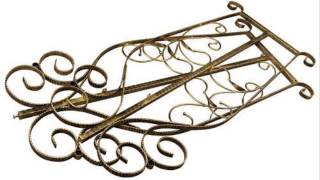 Brand New Free Standing Decorative Antique Bronze Iron Garment Coat Rack Y009d