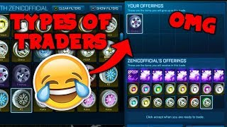 Video 10 Types Of Traders On Rocket League! download MP3, 3GP, MP4, WEBM, AVI, FLV Januari 2018