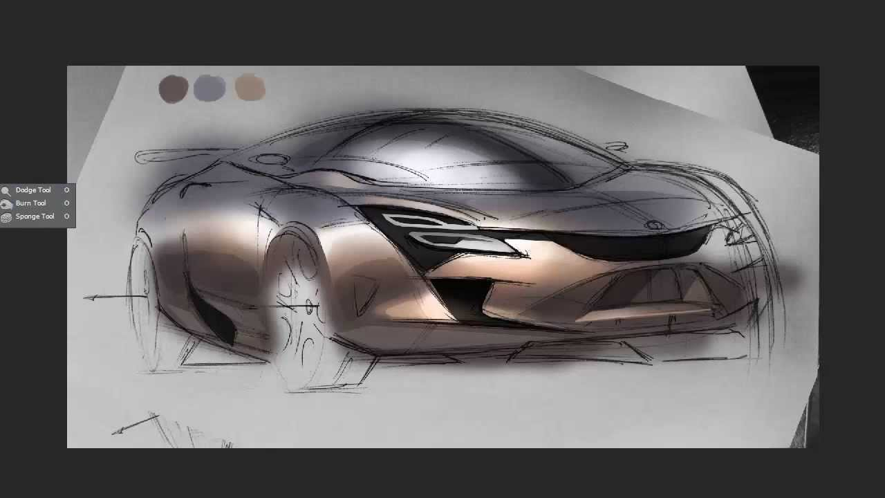 Car design Sketch - Diseño automotriz -Tutorial - YouTube