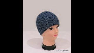 Мастер класс. Любимая шапка моего мужа ). Вяжется быстро и легко! Men's knitted hat. Master Class.