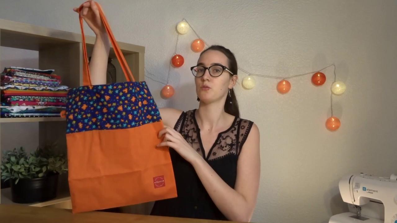 Connu Tuto couture #9 le tote bag pliable et réversible - YouTube IJ44