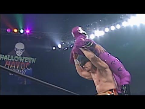 Eddie Guerrero vs. Rey Mysterio - Cruiserweight Championship vs. Mask Match: Halloween Havoc 1997