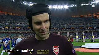 """I'm proud of myself."" Emotional Petr Cech reacts to Europa League final loss"