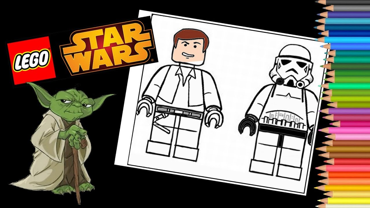 Lego Star Wars Coloring Pages Stromtroopers How To Draw Star