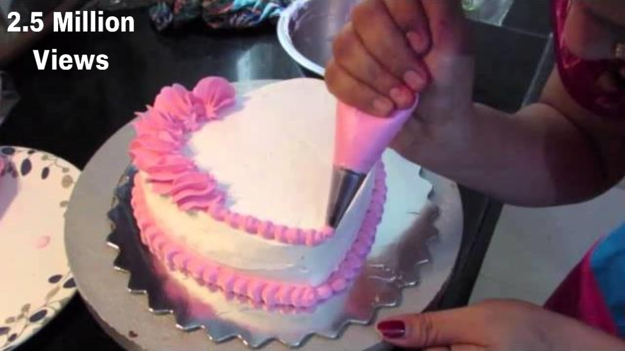 Anniversary Cake Simple Heart Shape Cake Cake Decoration By