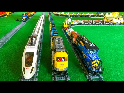 Lego® Train Action! Wonderful LEGO® toy Trains!