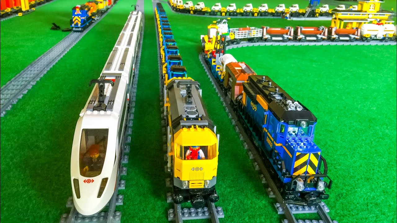 Lego Train Action! Wonderful toy Trains! - YouTube