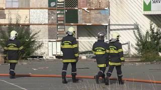 Incendie dans l'ancien bâtiment de Leroy-Merlin - DOUAI - 9 Aout 2017