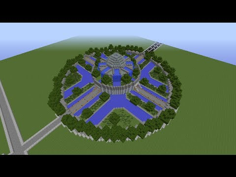 minecraft tutorial how to build garden spawn