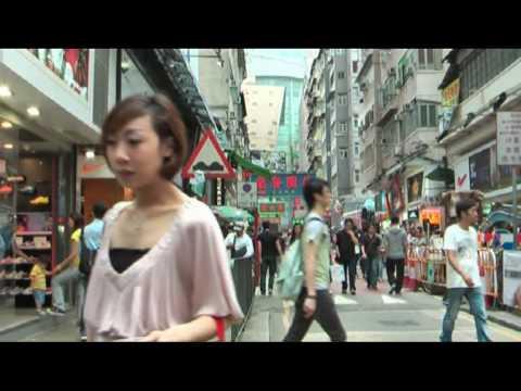 Everyday life in Mong Kok, Kowloon, Hong Kong