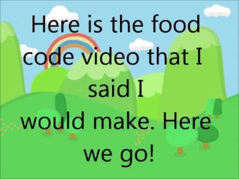 Moshi Monster Food Codes