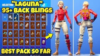 "NOUVEAU ""LAGUNA"" SKIN présenté avec 95 BLINGS BACK! Fortnite Battle Royale (BEST LAGUNA COMBINATIONS)"