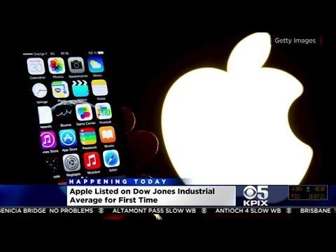 Apple's Stock Debuts On Dow Jones Replacing AT&T