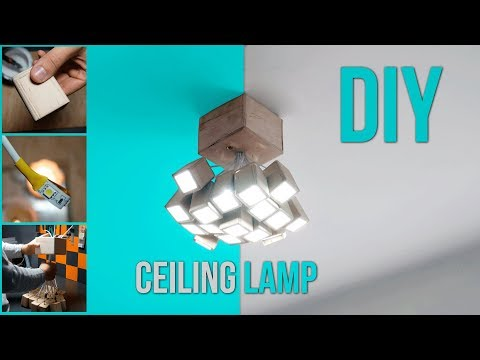 LED Ceiling Lamp from plywood