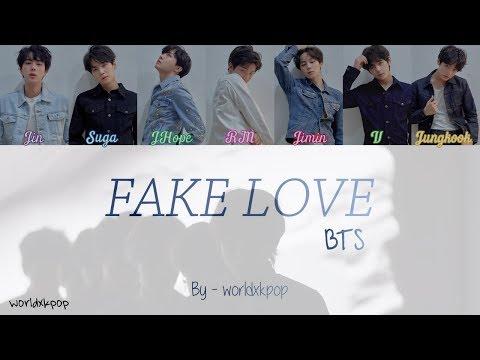 BTS - 'FAKE LOVE' * KOLAY OKUNUŞ+MV(EASY LYRICS)COLOR CODED